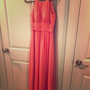 azazie coral bridesmaid dress